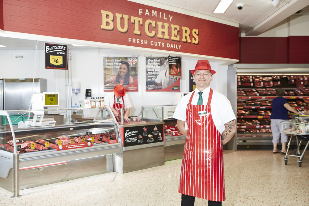 Steve, an in-store butcher stood in front of in-store deli